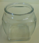 18 oz Footed Square Candle Jar