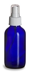 4 oz Cobalt Blue Boston Round Glass Bottle with Sprayer