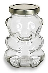 9 oz Glass Bear Jar