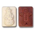 Snowman and Gingerbread Man Guest Size Soap Mold