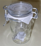 2.5 oz Glass Swing Bale Jar