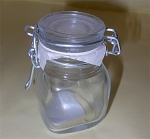 8 oz Square Glass Swing Bale Jar