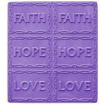 Faith Love Hope Tray Soap Mold