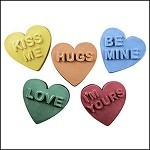 Candy Hearts Soap Mold