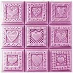 Crazy Hearts Tray Soap Mold