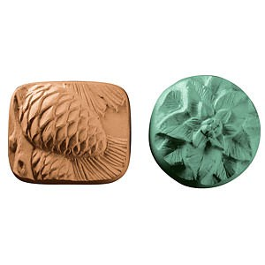 Poinsettia and Pinecones Guest Size Soap Mold