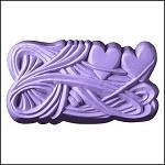 Two Interwined Hearts Soap Mold