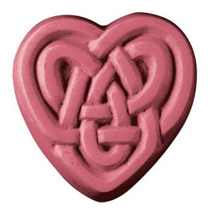 Celtic Hearts  Soap Mold