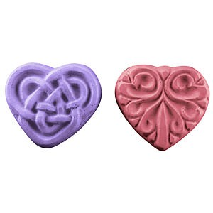 2 Celtic Hearts (guest) Soap Mold