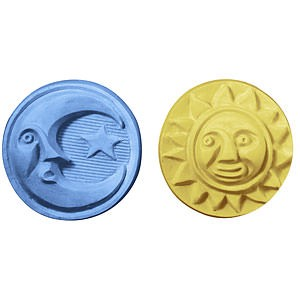 Sun and Moon guest soap mold