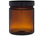 9 oz Amber Straight Sided Jar