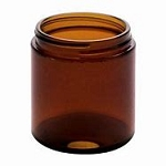 9 oz Amber Straight Sided Jar with  or without Black Metal Lid - PLEASE NOTE LIMIT OF THREE CASES PER ORDER