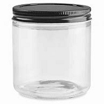 9 oz Clear Straight Sided Jars - PLEASE READ BELOW BEFORE ORDERING. THREE CASE MAXIMUM FOR SHIPPING